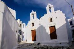 阿莫尔戈斯岛教会 库存照片