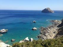阿莫尔戈斯岛,基克拉泽斯,希腊 库存照片