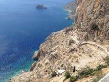 阿莫尔戈斯岛,基克拉泽斯,希腊 图库摄影