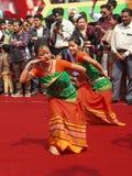 阿萨姆邦,印度民间舞  库存图片