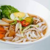 阿萨姆邦laksa,亚洲马来西亚食物 免版税库存照片