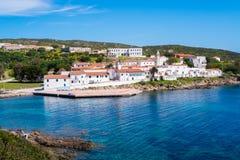 阿西纳拉岛海岛在撒丁岛,意大利 免版税库存照片