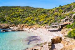 阿西纳拉岛海岛在撒丁岛,意大利 库存图片