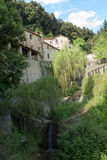 阿西西圣法兰西斯偏僻寺院细胞, 库存照片