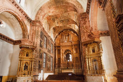 阿西西圣法兰西斯历史大厦教会内部,在1661年修造 科教文组织世界遗产站点 库存图片
