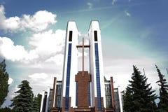 阿西西圣法兰西斯天主教教区  库存图片
