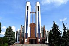 阿西西圣法兰西斯天主教教区  库存照片