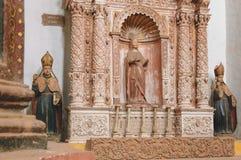 阿西西圣法兰西斯教会在果阿旧城,印度 免版税库存照片