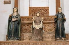 阿西西圣法兰西斯教会在果阿旧城,印度 库存照片