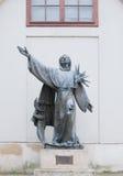 阿西西圣法兰西斯雕象  免版税库存照片