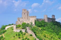 阿西西城堡 库存图片