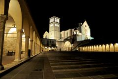 阿西西大教堂 免版税库存照片