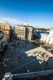 阿西西广场圣法兰西斯在哈瓦那古巴 库存图片