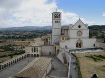 阿西西教会圣法兰西斯,在阿西西,意大利 免版税库存照片