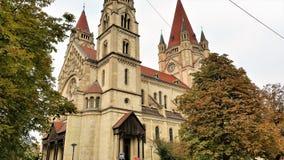 阿西西教会,维也纳圣法兰西斯  库存图片