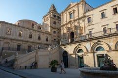 阿西西,诺托,意大利圣法兰西斯教会洁净的 库存图片