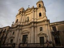 阿西西, 18世纪圣法兰西斯教会  免版税库存照片