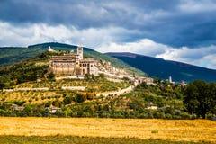 阿西西-佩鲁贾省,翁布里亚地区,意大利 免版税库存图片