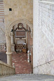 阿西西Basilica Papale di圣弗朗切斯科圣法兰西斯著名大教堂  库存照片