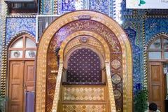 阿訇侯赛因寺庙在卡尔巴拉 免版税库存照片