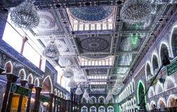阿訇侯赛因寺庙在卡尔巴拉 库存图片