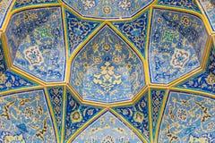 阿訇清真寺(Masjed-e阿訇)在伊斯法罕,伊朗 免版税图库摄影