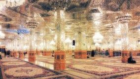 阿訇礼萨寺庙在马什哈德,伊朗 免版税图库摄影