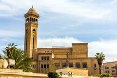阿訇艾资哈尔大学默罕默德Abdou圆形露天剧场在开罗 图库摄影