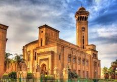 阿訇艾资哈尔大学默罕默德Abdou圆形露天剧场在开罗 库存图片