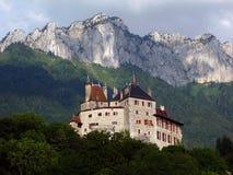 阿讷西城堡法国menthon 库存图片