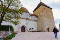阿讷西城堡  免版税图库摄影