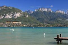 阿讷西法国湖 库存照片