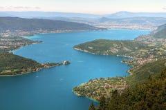 阿讷西法国湖 免版税库存照片