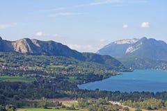 阿讷西法国湖 库存图片