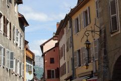阿讷西,法国建筑学  免版税库存图片