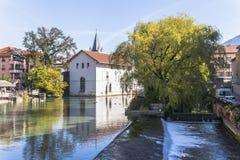 阿讷西,法国,村庄视图 免版税库存照片