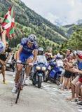 阿诺德攀登Alpe D'Huez的Jeannesson 库存照片