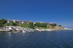 阿赫托波尔,保加利亚镇的看法  免版税图库摄影