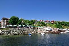 阿赫托波尔,保加利亚镇的美丽的景色  库存照片