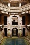 阿达拉杰Stepwell在Ahmadabad,印度 库存图片