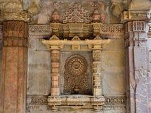 阿达拉杰Stepwell在Ahmadabad,印度 免版税图库摄影