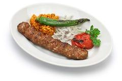 阿达纳kebab,土耳其食物 免版税库存照片