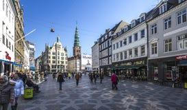 阿迈厄岛torv丹麦哥本哈根广场 库存照片
