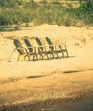阿迪朗达克椅子 免版税库存图片