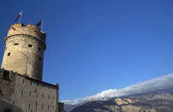 阿迪杰女低音buonconsiglio城堡trentino 库存图片