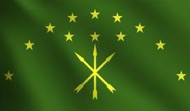 阿迪格共和国旗子 免版税图库摄影