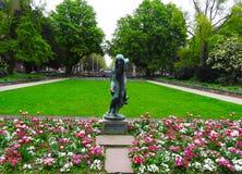 阿道夫Square Park,杜塞尔多夫伯爵 免版税图库摄影