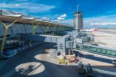 阿道福苏亚雷斯马德里巴拉哈斯机场 免版税库存照片