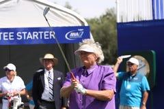 阿那启发高尔夫球比赛的劳拉戴维斯2015年 库存照片