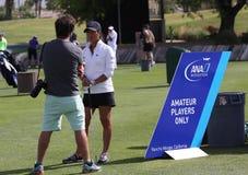 阿那启发高尔夫球比赛的塞利娜Boutier 2015年 免版税库存照片